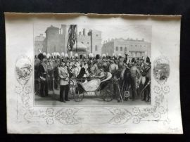 Tyrrell Crimea 1858 Print. Her Majesty Distributing Crimean Medal. Horse Guards